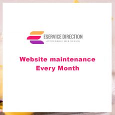 Website maintenance - Every Month