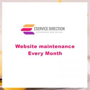 Website maintenance - Every Month